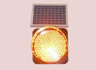 太阳能黄闪红慢警示灯